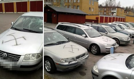 Swastika vandals target foreign-born car owners