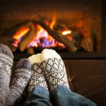 """You take your shoes off without thinking. Even in doctors, dentists, gyms, and day-care centres.  Photo: <a href=""""http://www.shutterstock.com/pic-142464652/stock-photo-feet-in-wool-socks-warming-by-cozy-fire.html?src=JiNiuCXbYoPekYACDrKVOQ-1-0"""">Shutterstock</a>"""