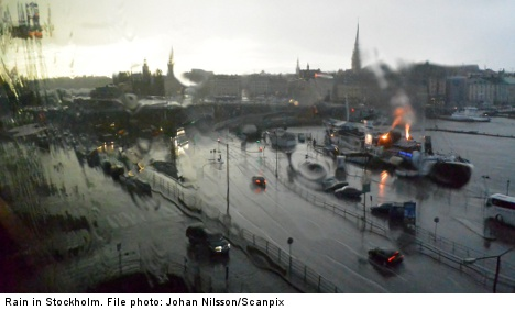 Swedish spring on hold as rain approaches