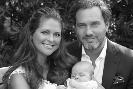 Princess Leonore in first family photo