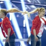 Russia's Tolmachevy Sisters have been turning a lot of heads with their song 'Shine.' Photo: Janerik Henriksson / TT