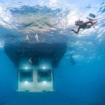 Early in 2014, Genberg completed Africa's first hotel under water off the coast of Zanzibar. The hotel is supported on the reef outside The Manta Resort, 12 metres below the surface. Photo: Mikael Genberg