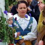 A woman and child wearing Swedish national folk dress.Photo: The Local/Solveig Rundquist