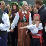Nope, it's not the smell - she's actually pretending to be an elephant. It's all part of a traditional Midsummer song. Photo: The Local/Solveig Rundquist