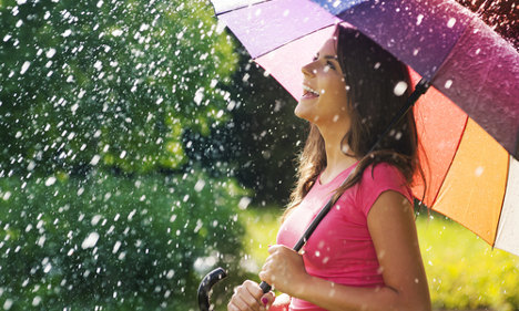 Swedish summer on hold as rain approaches
