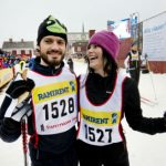 The couple enjoy sports and are pictured here after taking part in the Stafettvasan ski event in February 2014. Photo: Ulf Palm/TT
