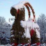 """And lastly... biggest flammable Christmas goat. Okay, maybe this isn't as serious as the rest but it's a fun finish and it shows that Swedes enjoy a good laugh. The town of Gävle erects an enormous straw goat each year. And almost every year, unidentified bandits torch it. This year's 13-metre monstrosity was the 24th to perish since the first one was put on display back in 1966. No, <a href=""""http://www.thelocal.se/20131221/swedens-christmas-goat-torched-yet-again"""" target=""""_blank"""">seriously</a>."""