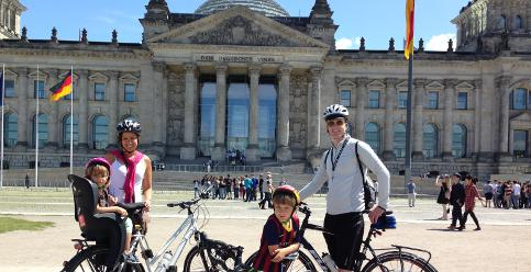Seven-year-old Swede cycles to Berlin
