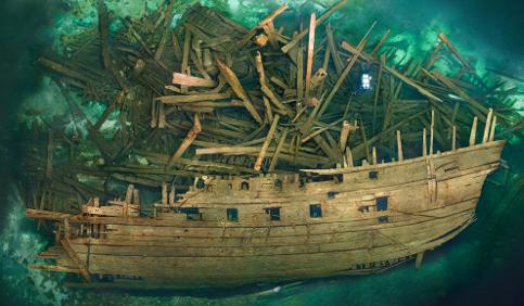 Swedish divers search mad king's warship