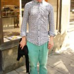 Matteus, 27, musician: I like wearing bright, button-up shirts and bright pants. I have a few pairs of blue and green pants.Photo: Rebecca Jacobs