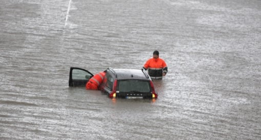 Flash floods cause chaos in southern Sweden