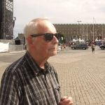 """Göran, 78 <br><br> Why has Sweden been away from war for 200 years?<br><br> """"It was mostly luck! I was born shortly before World War II and I have vague memories of the outbreak. Sweden was neutral and no politicians got in to any problems. I hope it will stay like that in the future."""" Photo: Isabela Vrba"""