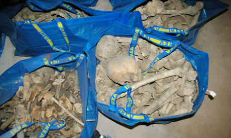 Woman finds Ikea bags stuffed with 80 skeletons
