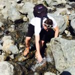 There's something refreshing about refilling your water bottle in a stream in northern Sweden. Ice cold water, too.