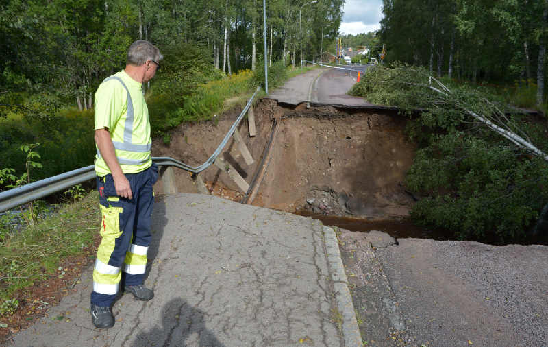 Flooding in southern Sweden
