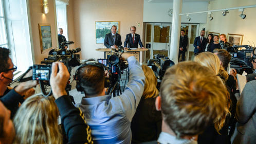 Sweden's new coalition government announced
