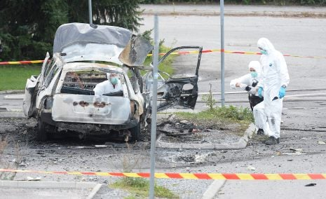 Buildings cleared after suspect Stockholm bomb