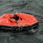 One of the images Sweden woke up to on September 28th 1994. Rescuers floating around a life raft from the MS Estonia. Photo: Leif R Jansson / TT /