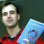 Reinfeldt in 1992 as head of the Moderates Youth Wing. Photo: TT