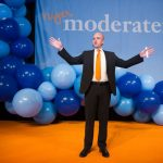 Reinfeldt celebrates being elected into his second term as Sweden's prime minister in 2010.Photo: TT