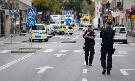 Bank robbers on the run in Stockholm