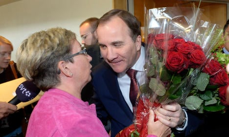 Stefan Löfven voted in as new Prime Minister