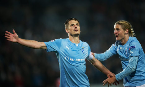 Malmö beat Olympiacos in Champions clash