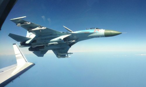 Russian jet flew 'metres' from Swedish plane