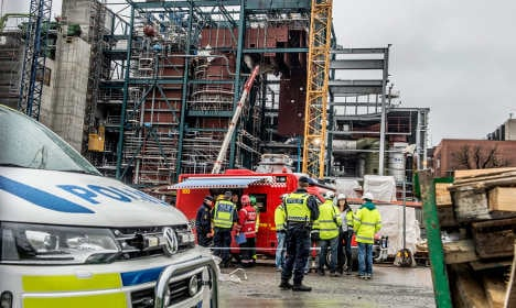 Stockholm building site closed after two die