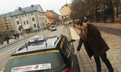 A spin in a Stockholm therapy taxi