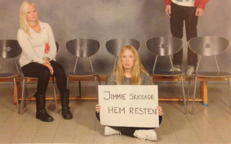 Swedes' blonde only school photo goes viral