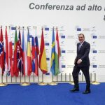 Löfven made his debut on the international scene at a conference in Italy in October. Photo: Wiktor Nummelin / TT