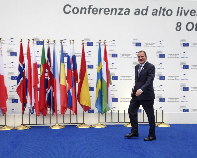 In Pictures: Stefan Löfven on tour
