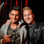 """Samir (famous from Swedish TV show Paradise Hotel) and Viktor (a fashion blogger) will perform """"Groupie"""" together. Don't let the title misguide you, it'll be sung in Swedish. Photo: TT"""
