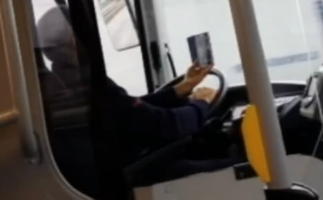 Swedish bus driver faces sack for using mobile