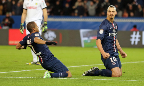 Sweden's Zlatan pushes PSG top in France