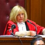 Cape Town High Court Judge Jeanette Traverso gives her verdict in the murder trial. She acquitted Dewani who promptly left the courtroom.Photo: AP Photo/Court Pool