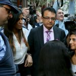 Anni's father Vinod Hindocha arrives in court in South Africa to observe proceedings. Photo: AP Photo/Nardus Engelbrecht