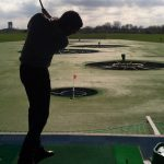 When he isn't soaring the skies, Robin enjoys playing golf.Photo: Private