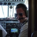"""Ready for take off! As a flight inspector, Rob describes himself as """"an engineer who knows how to fly"""".Photo: Private"""