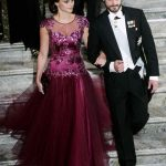 Handsome couple Sofia Hellqvist and Prince Carl Philip arrive at the Nobel Banquet at Stockholm's City Hall on Wednesday.Photo: Fredrik Sandberg/TT