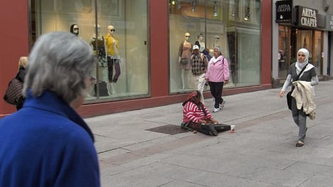 'Street begging is not new to Sweden'