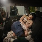 1st place, Everyday Life (Sweden). On March 23rd, Catherine arrives at Södersjukhuset's maternity ward. The baby is already born - he came into the world in the car, two hours after her first contraction.Photo: Moa Karlberg (Frilans, Kontinent)/Årets Bild