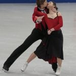 Elena Ilinykh and Ruslan Zhiganshin, Russia,  during the Ice Dance/Short Dance competition on January 28th.Photo: TT