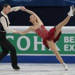 Frederica Test and Luke Csolley, Slovakia,  during the Ice Dance/Short Dance competition on January 28th.Photo: TT