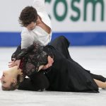 Gabriella Papadakis and Guillaume Cizeron, France,  during the Ice Dance/Short Dance competition on January 28th.Photo: TT