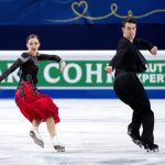 Olesia Karmi and Max Lindholm, Finland,  during the Ice Dance/Short Dance competition on January 28th.Photo: TT