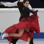 Sara Hurtado and Adria Diaz, Spain,  during the Ice Dance/Short Dance competition on January 28th.Photo: TT