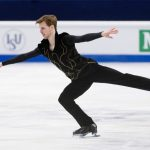 Stephane Walker, Switzerland,  during the Ice Dance/Short Dance competition on January 28th.Photo: TT