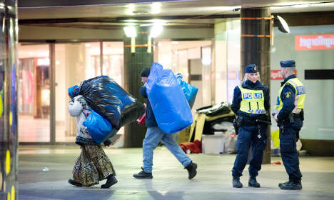 Twenty beggars evicted from Stockholm streets